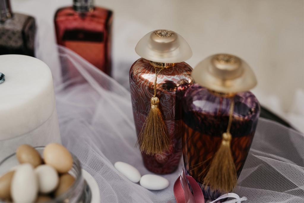 Bomboniere e cadeau de mariage di un matrimonio romantico a Venezia