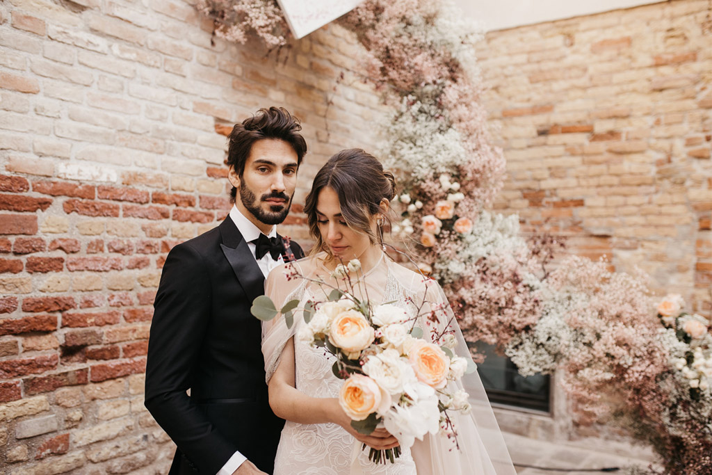Cerimonia simbolica di un matrimonio a Venezia
