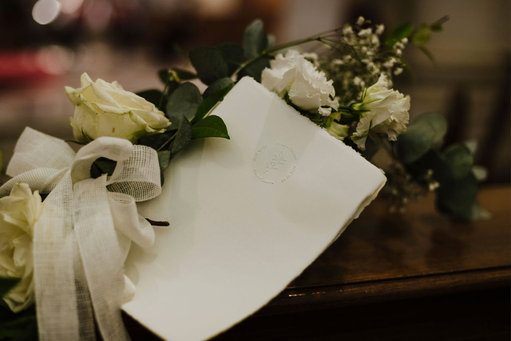 Il libretto messa realizzato da Hecate Events per un matrimonio romantico a Venezia